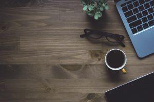virtual office, telephone, coffee