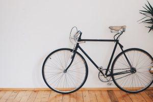 bike, wall, room