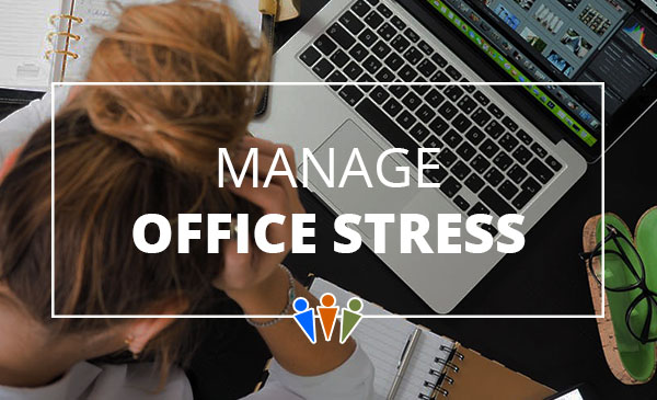 office stress, manage, girl, computer