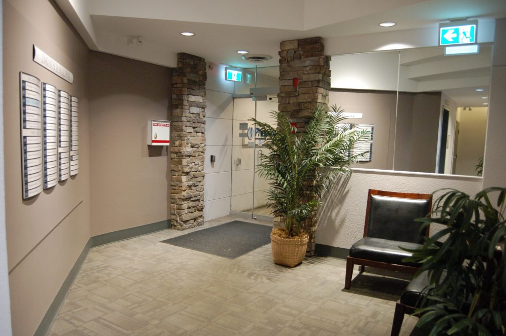 datatech, office space victoria, gallery. photo gallery, front lobby