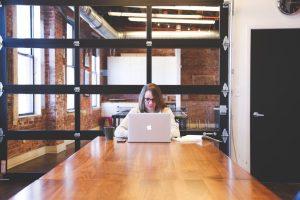 table, desk, laptop
