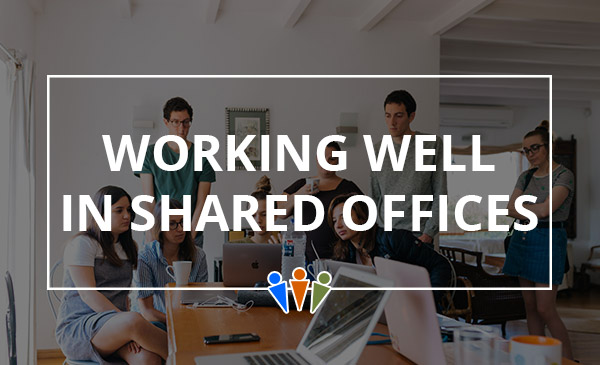 shared, office, space, work, company