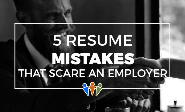 resume errors, mistakes