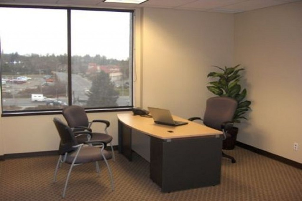 office rentals, desk, chair, view, window