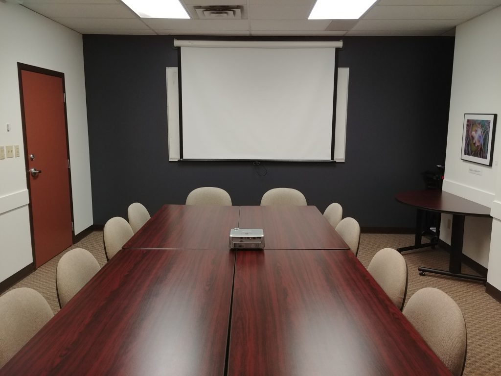 projector, table, conference room