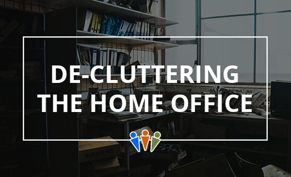 home office, clutter